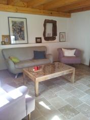 Wohnzimmer mit Fußbodenheizung UG
